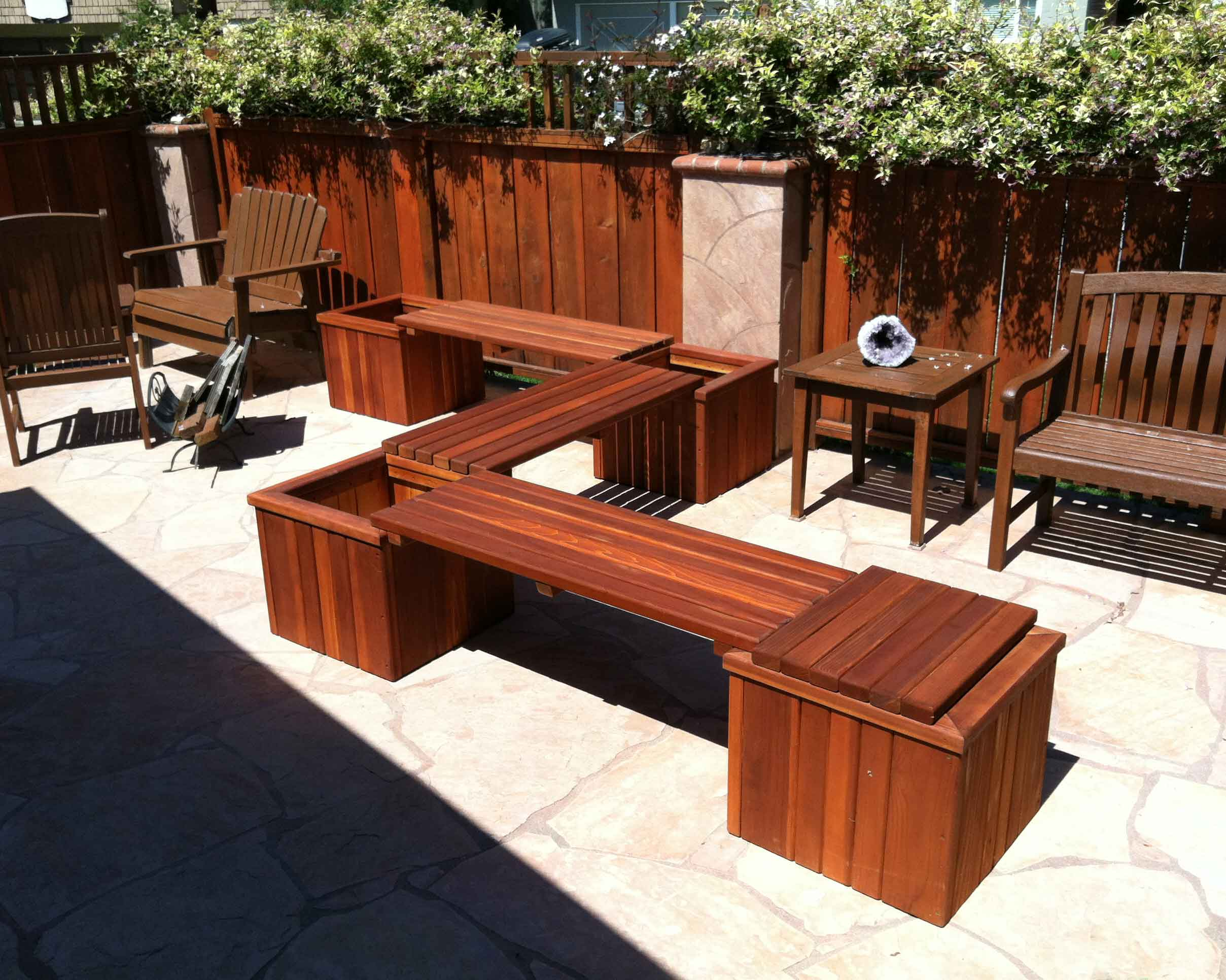 California Hot Spas Redwood Planters