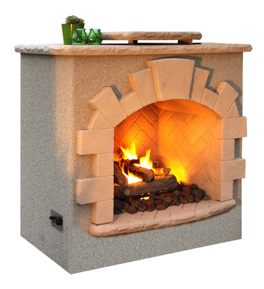 California Hot Spas Cal Flame Outdoor Gas Fireplace Frp906 1