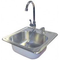 CAL FLAME ACCESSORIES DROP-IN SINK W/ FAUCET BBQ11963