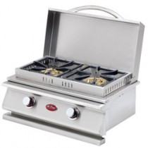 CAL FLAME SIDE BURNER SIDE BURNER DLX DOUBLE SIDE BY SIDE BBQ08954P