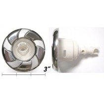 "CAL SPAS JET INSERT (mfd) 3"" MICRO FLOW DIRECTIONAL THREADED # CS2295068S CANDY CANE PLUCS2295068S"