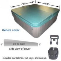 "COLEMAN SPA COVER 93 X 93 DLX 5-3"" TAPER HUNTER GREEN (COLEMAN LOGO) COV9393DLX53GR2.0"