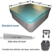 "COLEMAN SPA COVER 93 X 93 STD 5-3"" TAPER HUNTER GREEN (COLEMAN LOGO) COV9393STD53GR1.5"