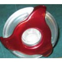 "COLEMAN JET INSERT - STAINLESS [ED] CLEAR 2"" RED EURO DIRECTIONAL (#282031W-RDCL) PLU282031W-RDCL"