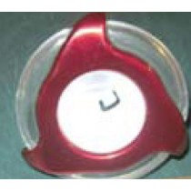 "COLEMAN JET INSERT - STAINLESS, 3"" [MED] CLEAR RED DIRECTIONAL (#28203W-RDCL) PLU282033W-RDCL"
