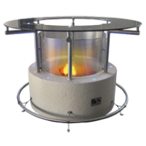 Cal Flame Outdoor Glass Gas Firepit FPT-G5000