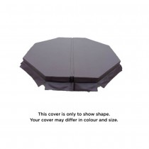 """CAL SPAS SPA COVER 78 OCTAGON STD 5-3"""" TAPER BROWN ACC01001390"""